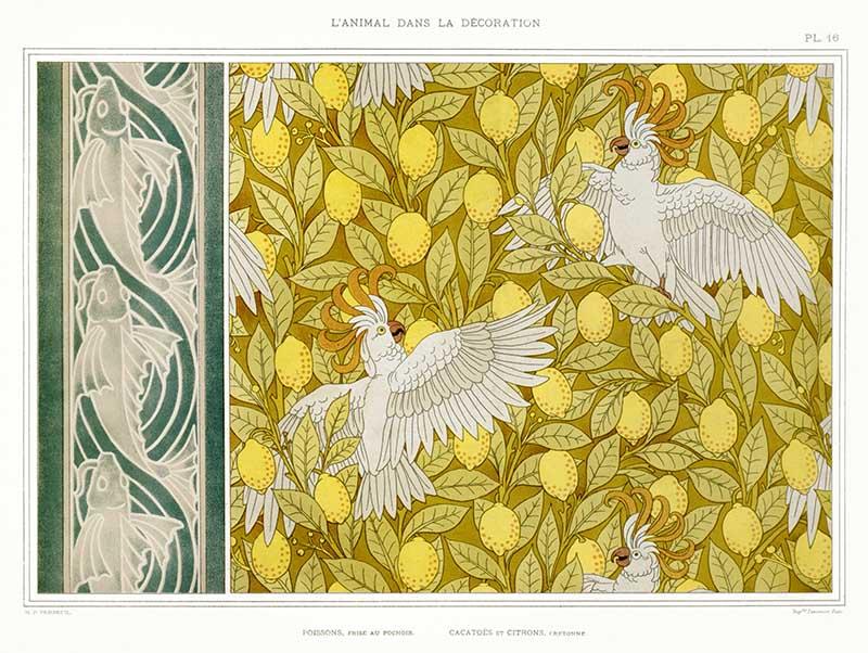 Fish and Cocatoos L'animal dans la décoration (1897)