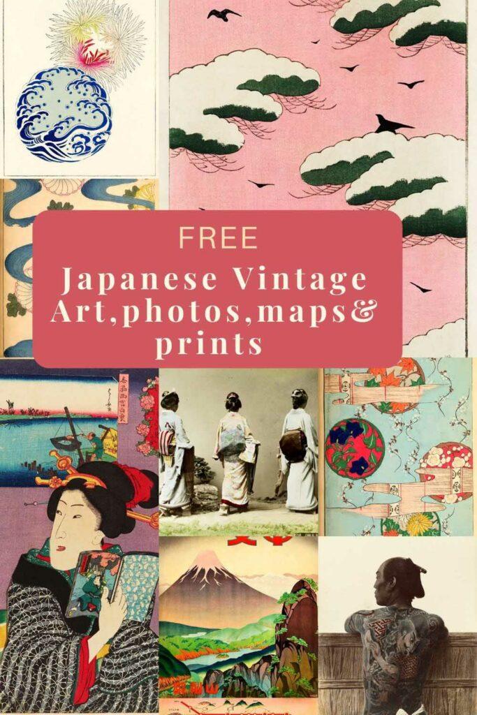 Free Japanese vintage prints