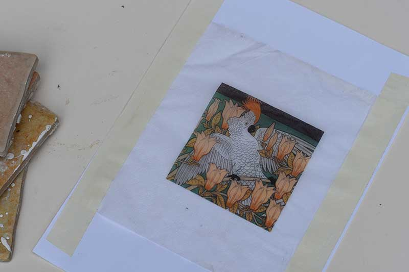 Printing on paper napkins