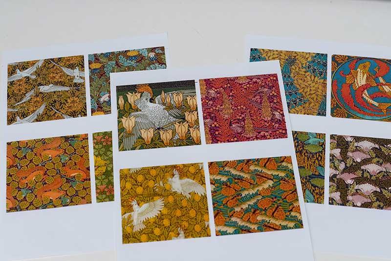 Decoupage paper tile prints