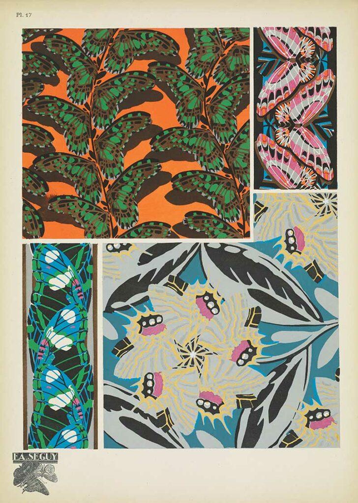 Antique Butterflies Wing Patterns