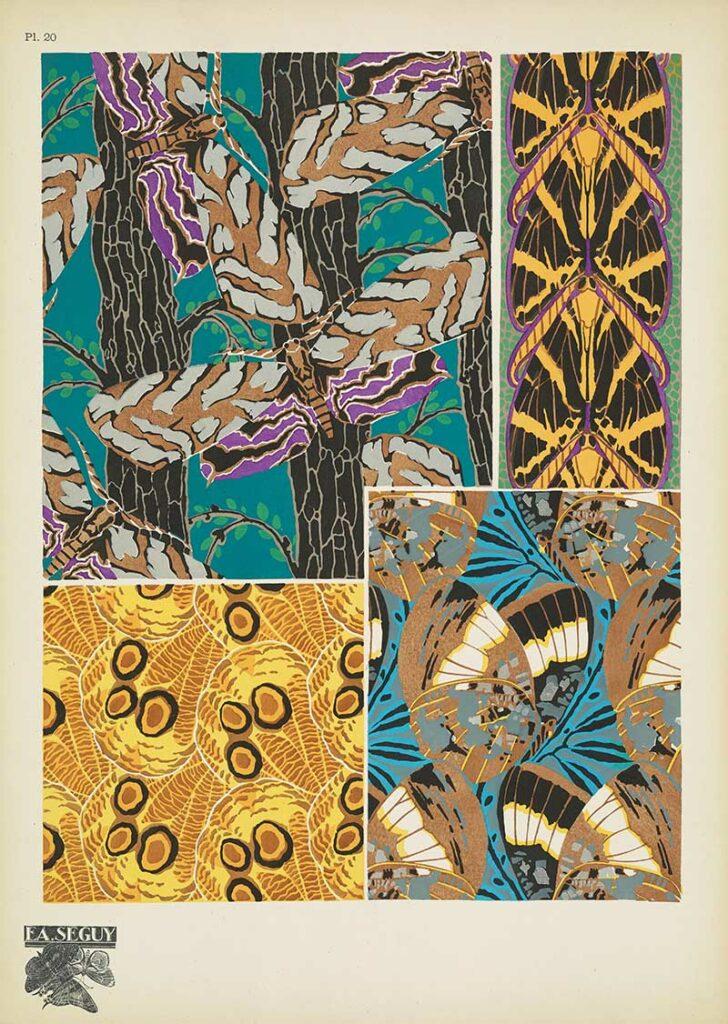 Seguy Art Nouveau Pochoir prints