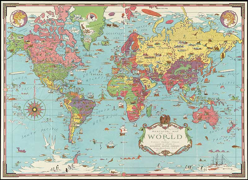 Chase Mercator Map of the World
