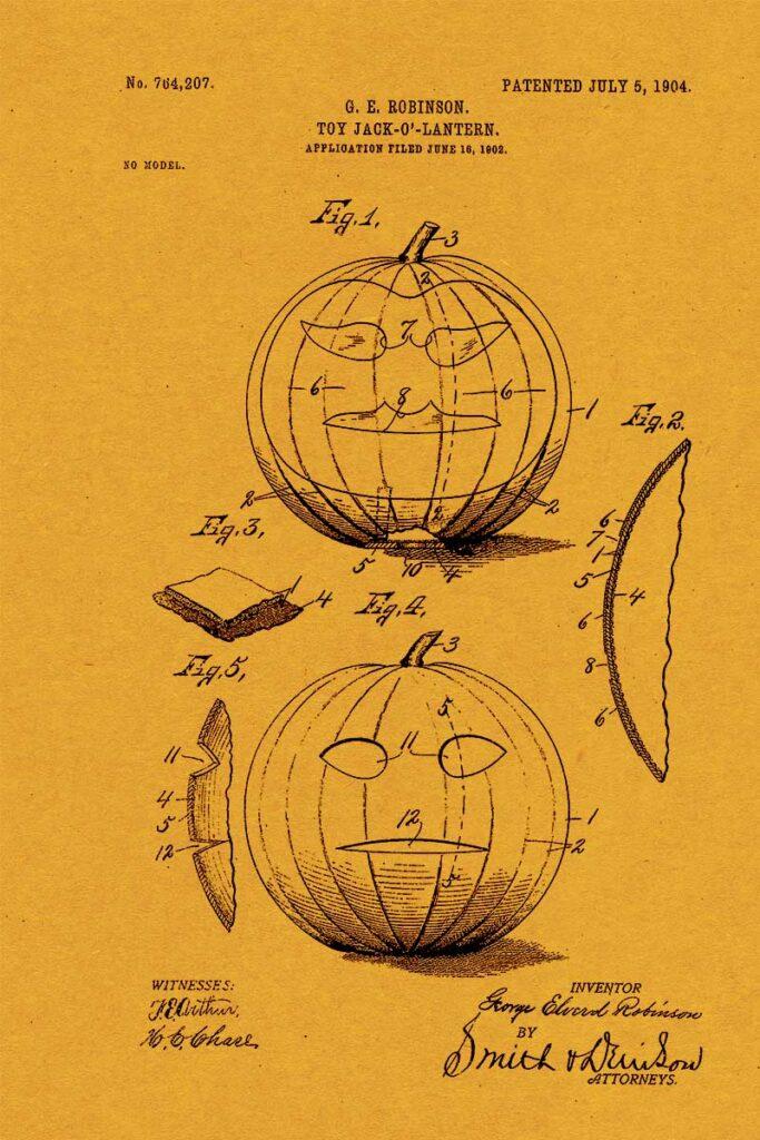 Jack-o'-Lantern Patent