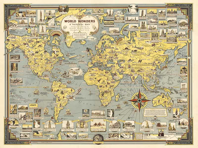 World Wonders A Pictorial Map