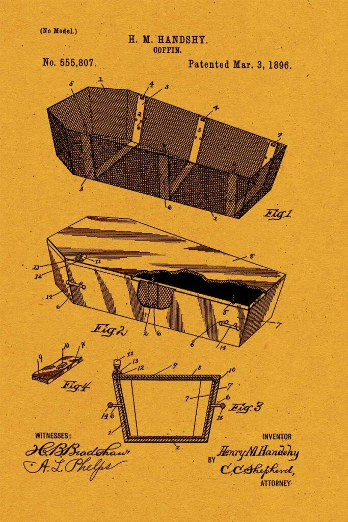 Halloween patent coffin