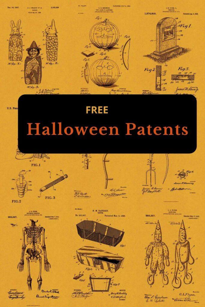 Free vintage Halloween patent art