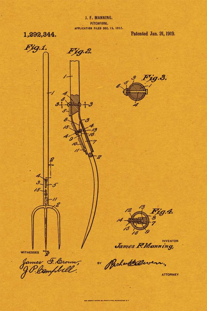 Pitch Fork Patent Art