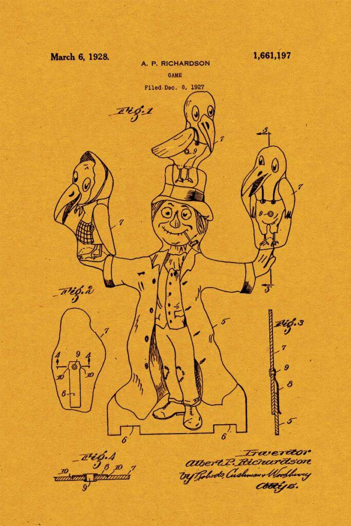 Scarecrow Halloween Patent art
