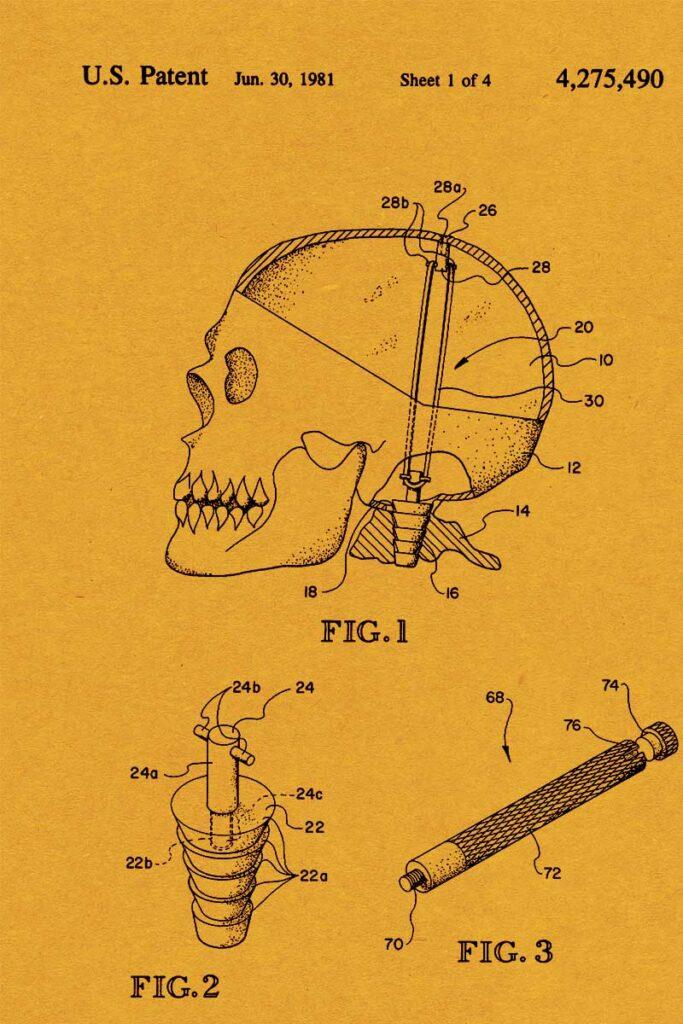 Skull Halloween Patent