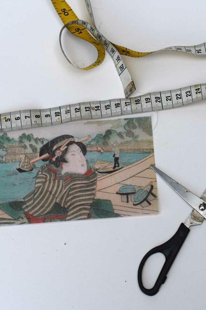 Cutting printed vellum sleeve