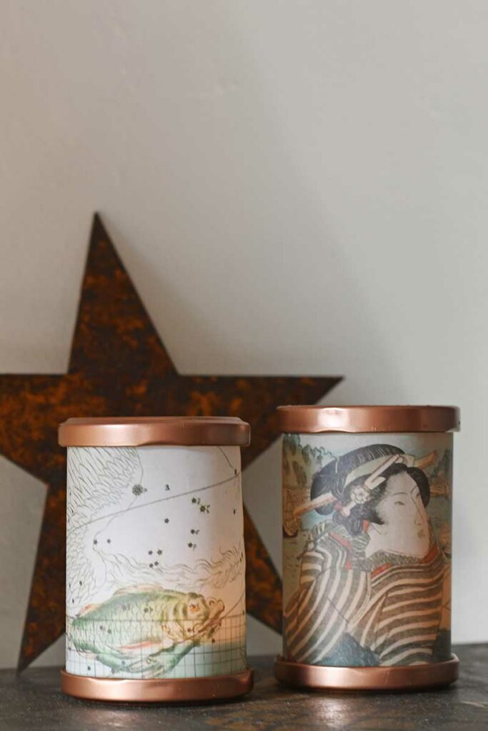 Mini DIY tea light lanterns