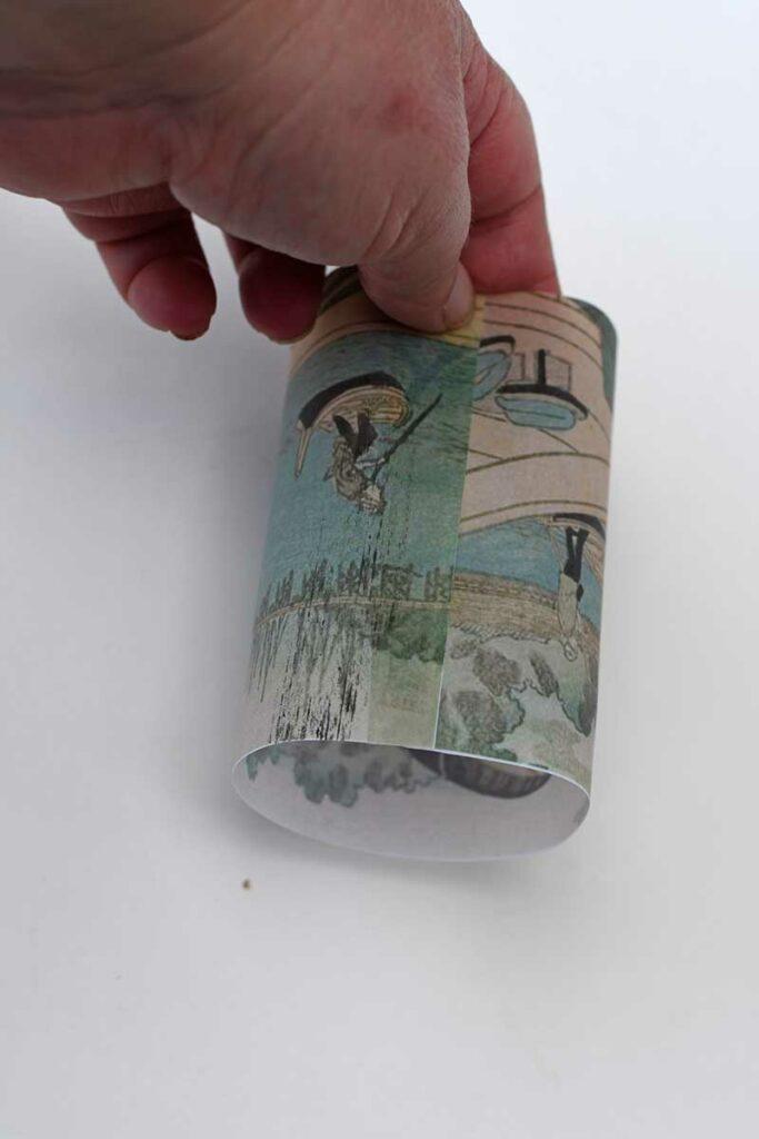 Making a tea light lantern sleeve