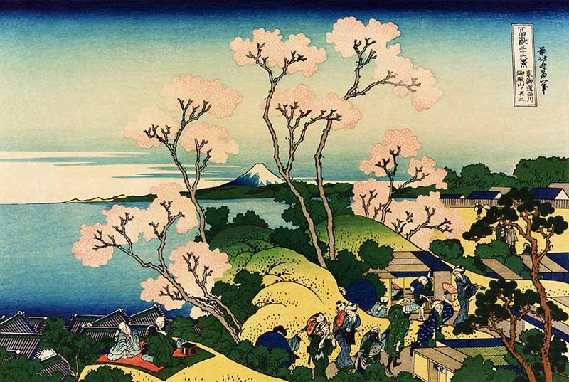 Cherry blossom Mt fuji Hokusai